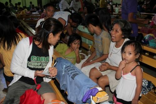 Mayon evacuees