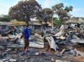 Houses in Kajeema Waththa in ruins after unexpected fire