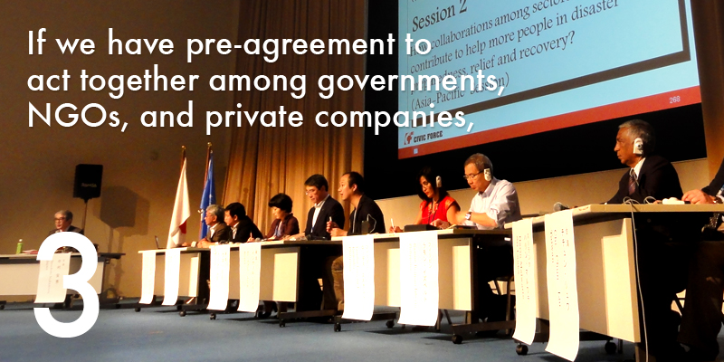 If we have pre-agreement to act together among nations, NGOs, and private companies,