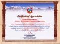Appreciation Certificate of Nepal Earthquake Response